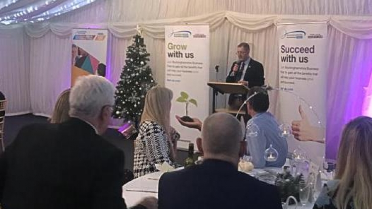 Guest speaker at Buckinghamshire Business First Leaders Dinner 11th December 2019