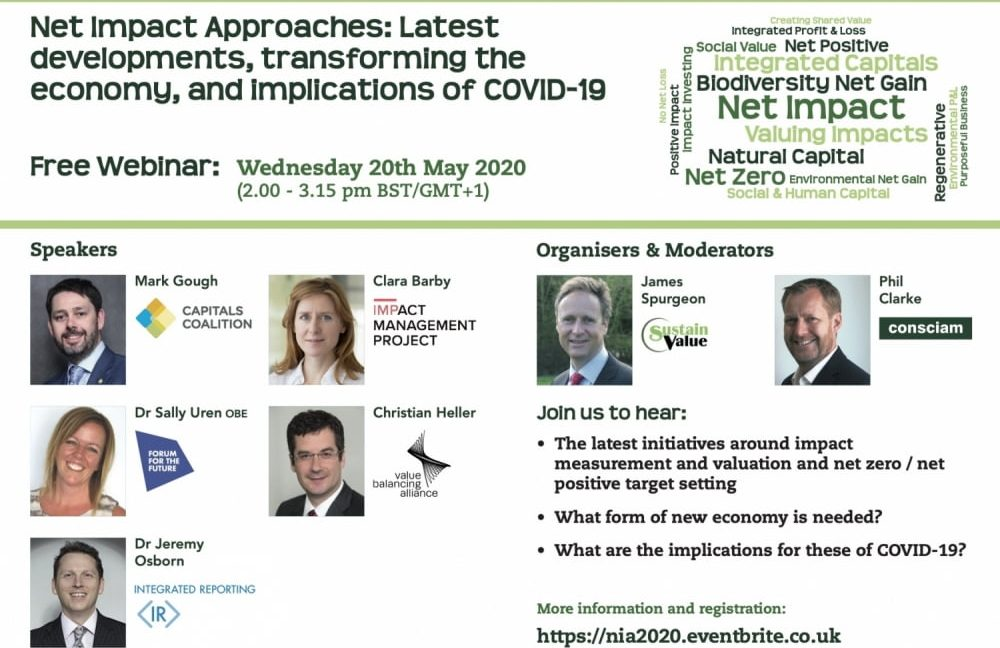 FREE WEBINAR on Net Impact Approaches Conference (20th May 2020  – 2.00 pm)
